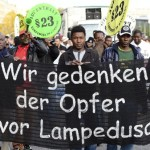 Refugees-Seek-Shelter-In-Hamburg-Church-Activists-Demonstrate-In-Support